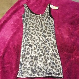 Women's Sequin dress leopard print size Small NWT